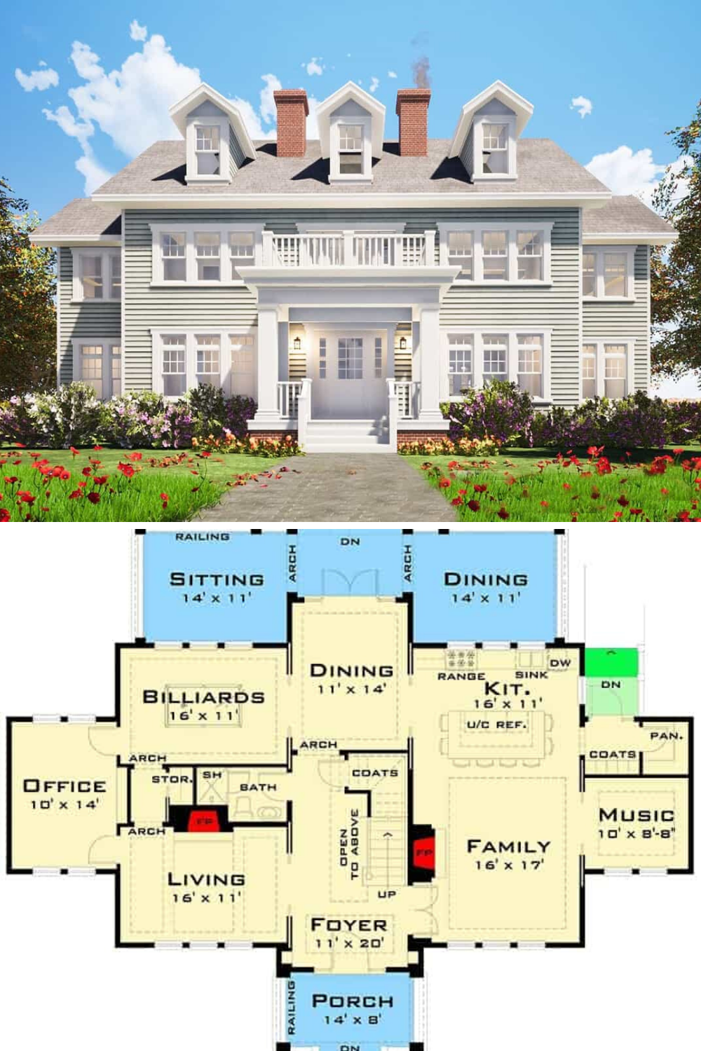 Three Story 4 Bedroom Georgian Home Floor Plan Colonial House Plans House Plans Mansion Mansion Floor Plan