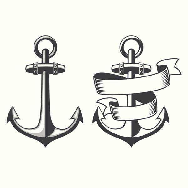 Satz Von Anker Symbole Oder Logo Vektor Anker 1