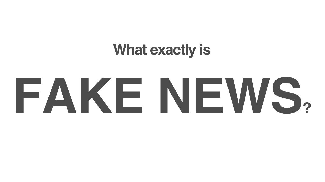 Fake news includes hoax sites, misleading reporting