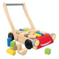 PLAN TOYS Baby Walker with Blocks $115.90 www.mamadoo.com.au #mamadoo #walkers #rideons