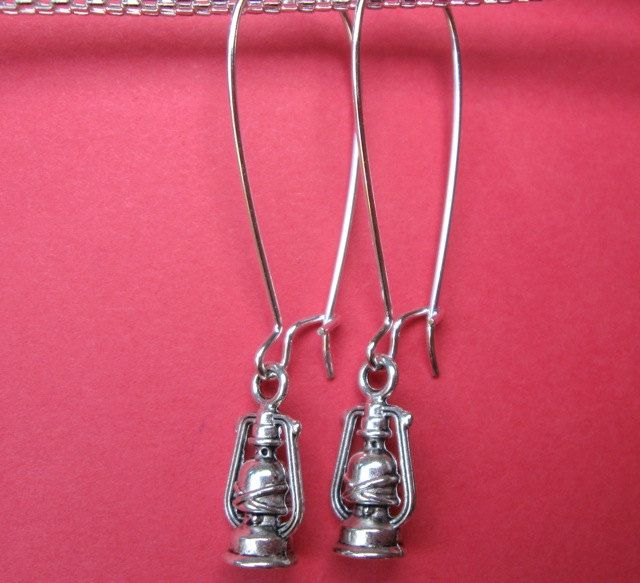 LANTERN EARRINGS on French wires. $7.00.  Aren't these cute?  I haven't seen lanterns before.  :)