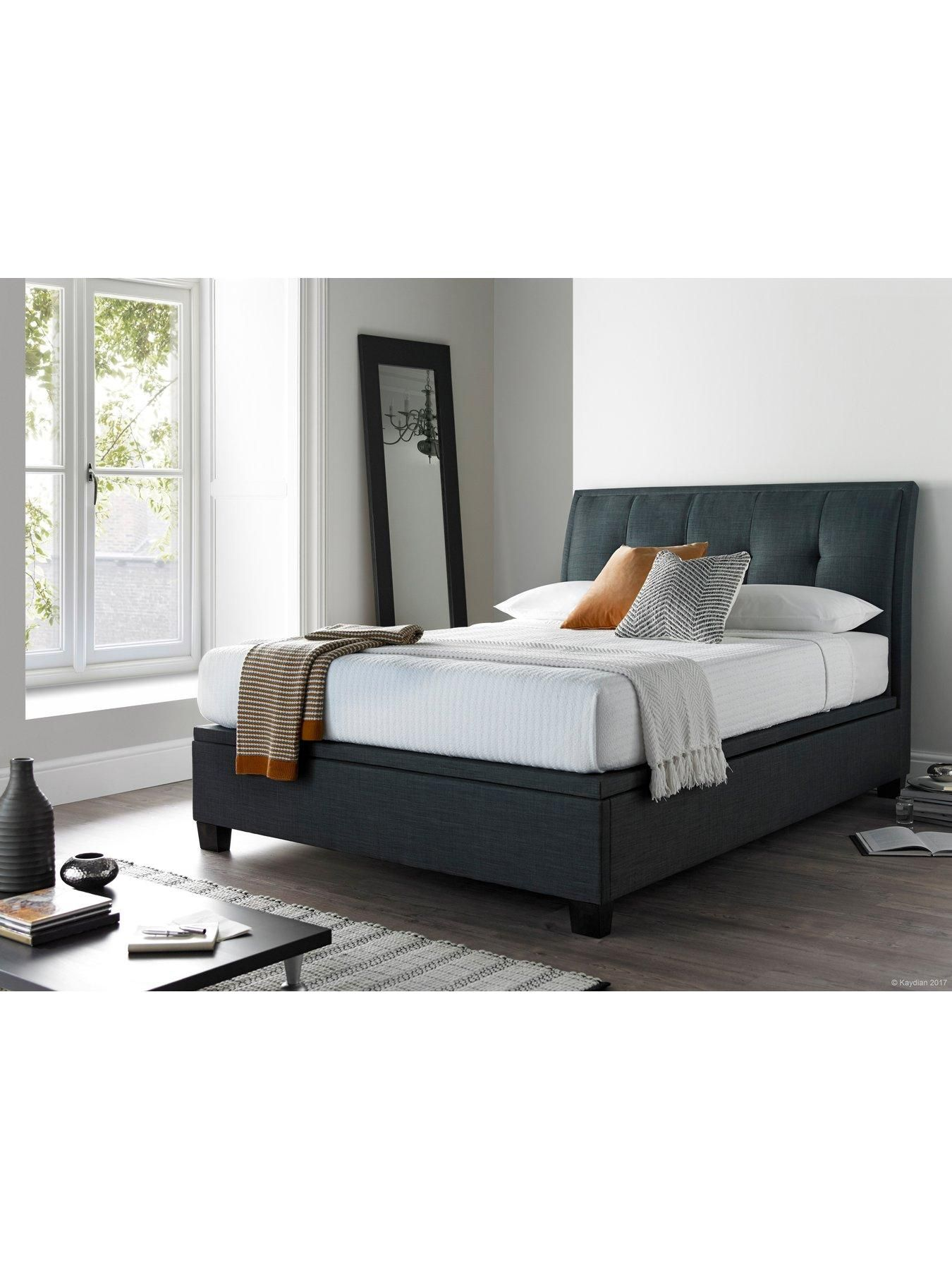 Livingstone Fabric Ottoman Storage Bed Frame Bed Frame With