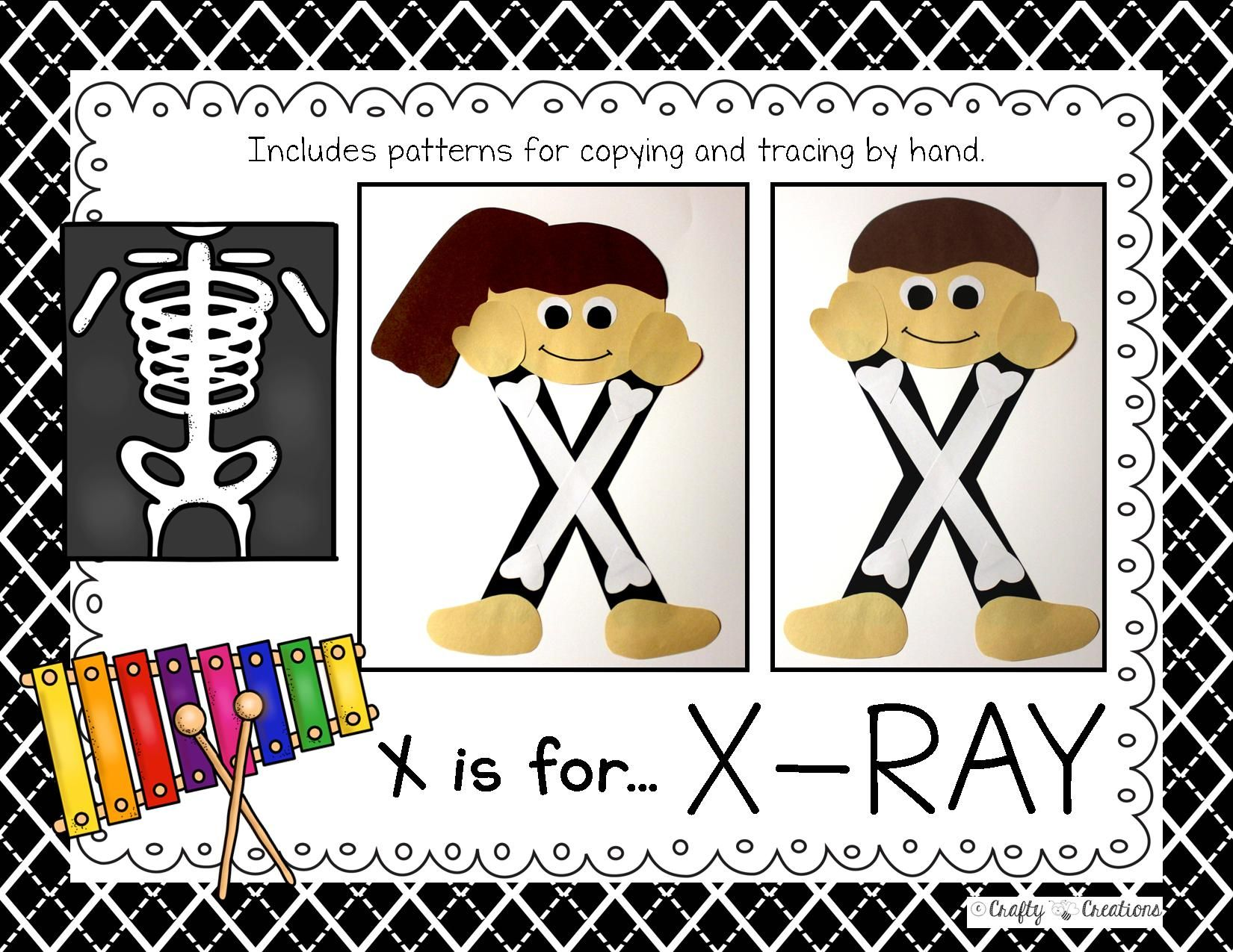 Letter X Craft X Ray