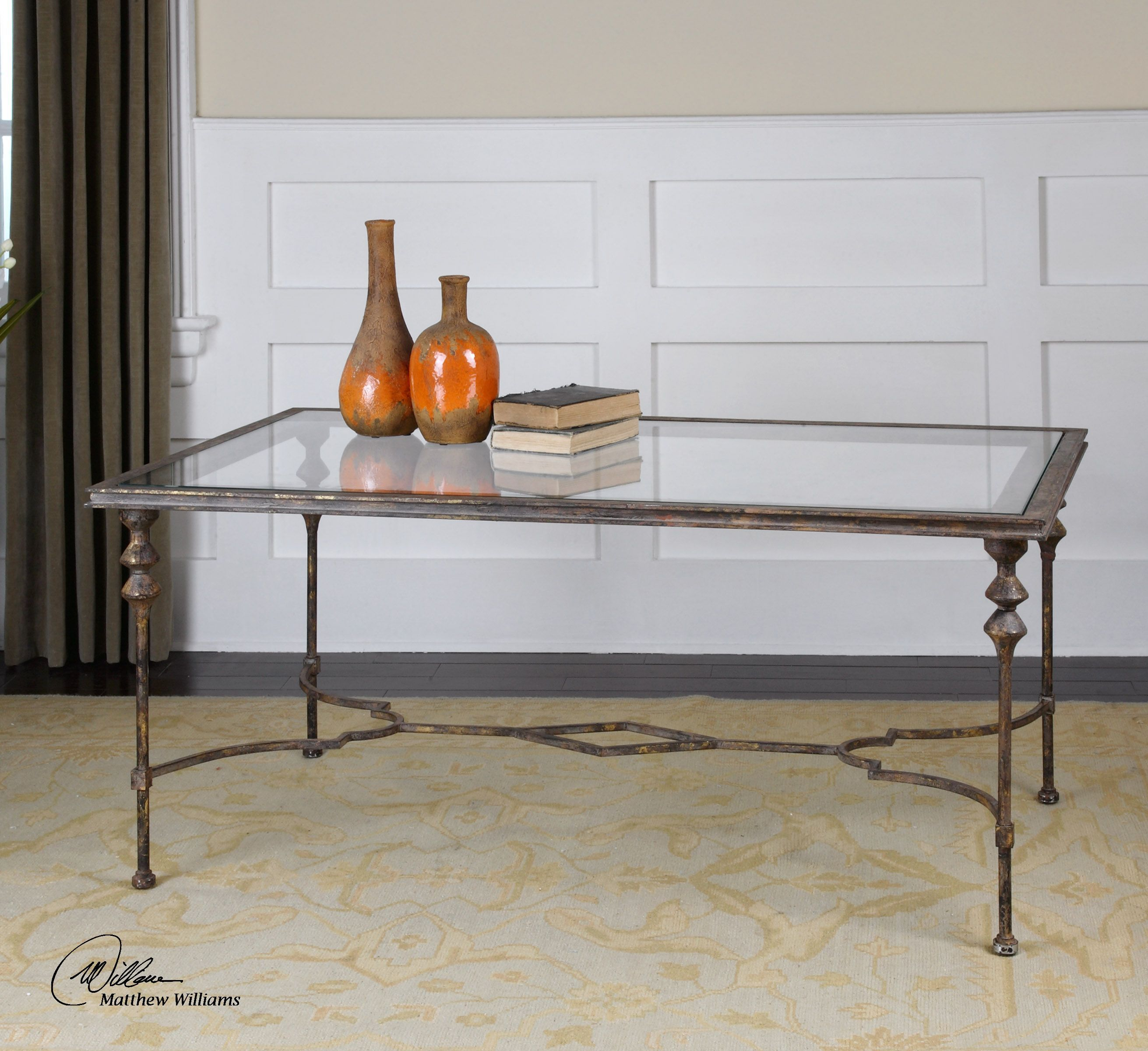 Uttermost Quillon Glass Coffee Table 24364 Coffee Table Furniture Uttermost Furniture [ 2400 x 2622 Pixel ]