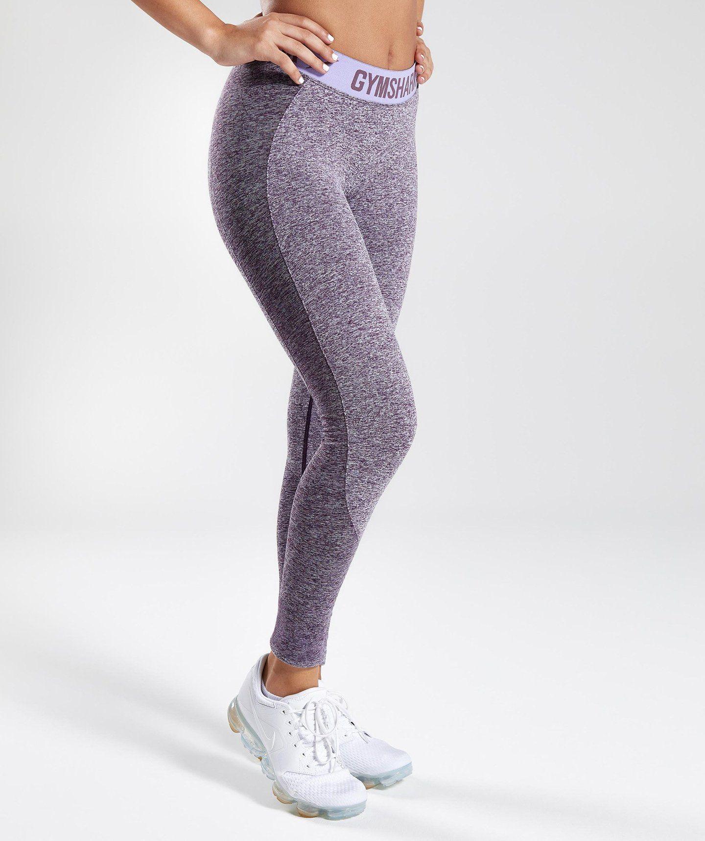 7b4743962a2dd Gymshark Flex Leggings - Rich Purple Marl/Pastel Lilac 2 | Fitness ...