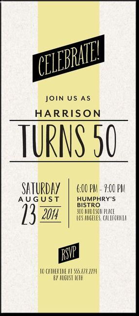 Tiny Prints Invitations Great Idea If I Get A 50th Birthday Party