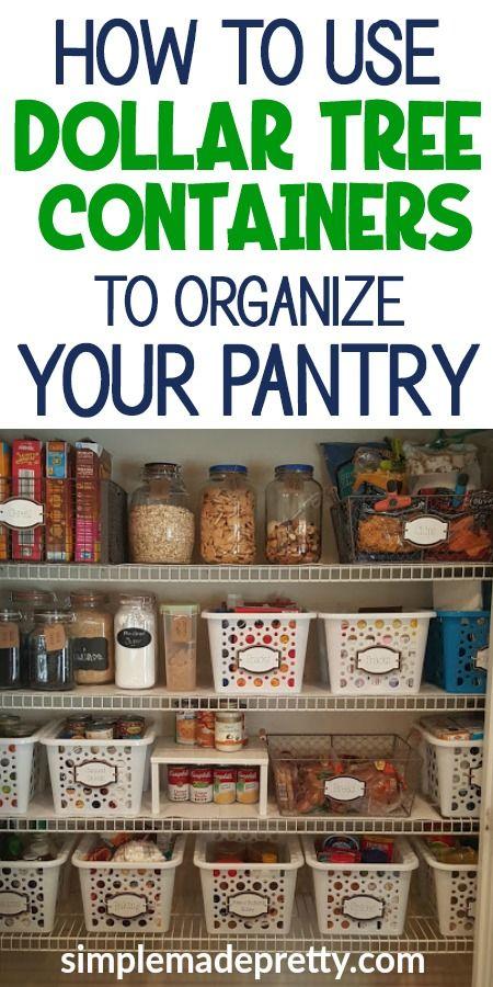 Dollar Store Pantry Organization  #pantryorganizationideas