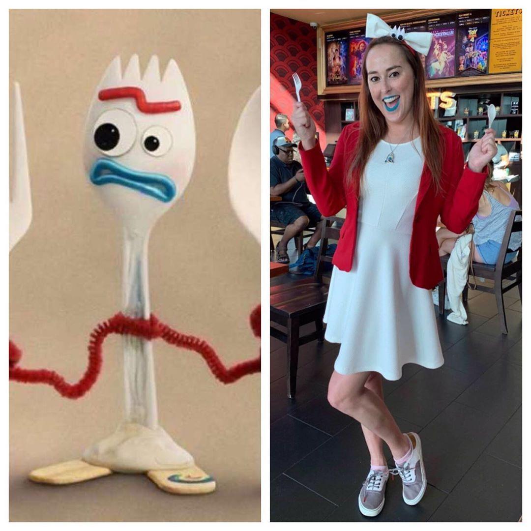 Forky Outfit Forky Dress Forky Halloween costume Forky inspired girl Outfit Forky Outfit Forky inspired costume Forky Toy Story 4