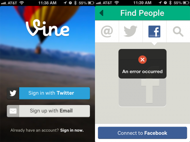 Twitter's Vine App Twitter t, Connect to facebook, Blog