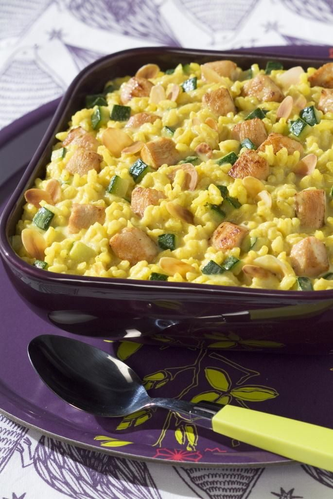 Photo of Curry and grilled chicken risotto