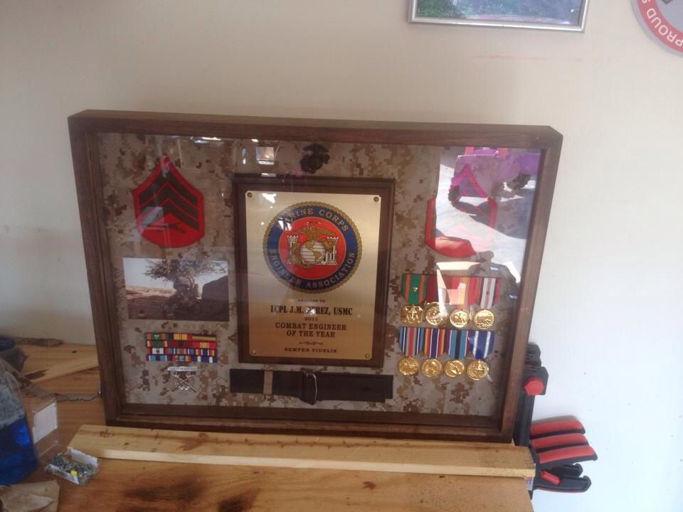 DIY shadow box for when the hubs gets out | Military Proud | Pinterest