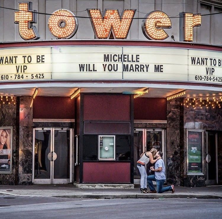 Such A Fun Moment A Proposal At Our Venue Tower Theater