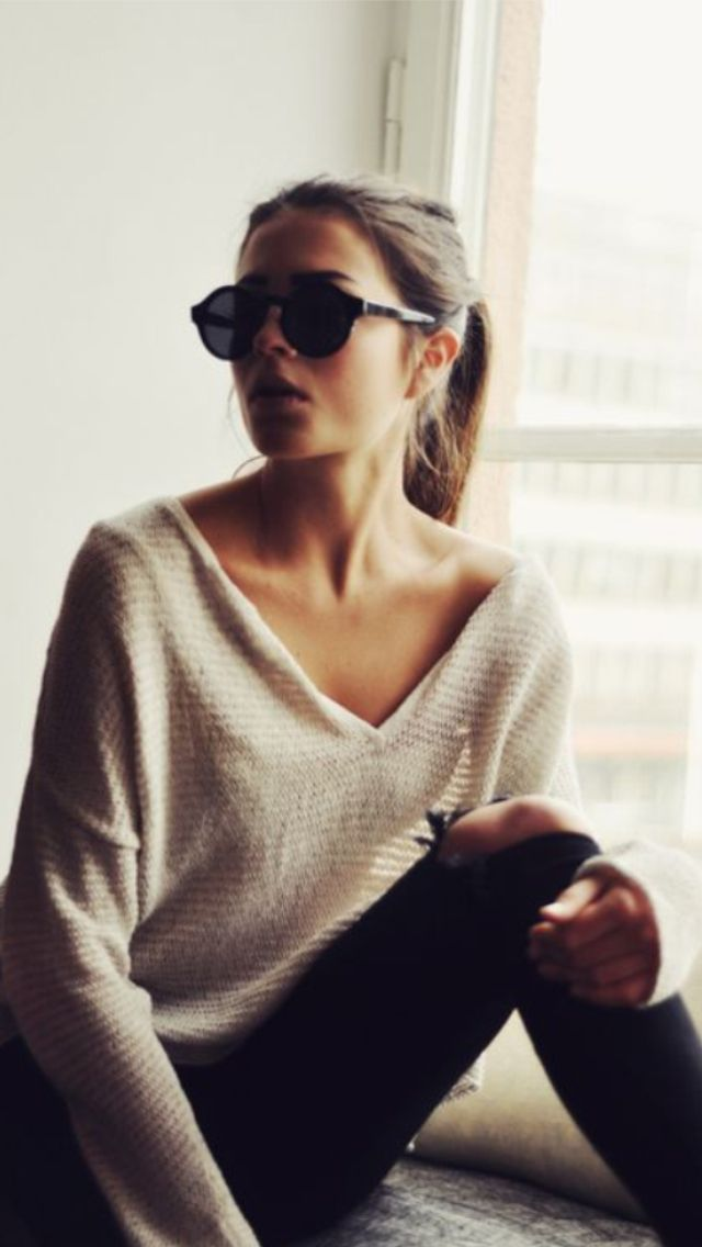 Relaxed casual & great shades.