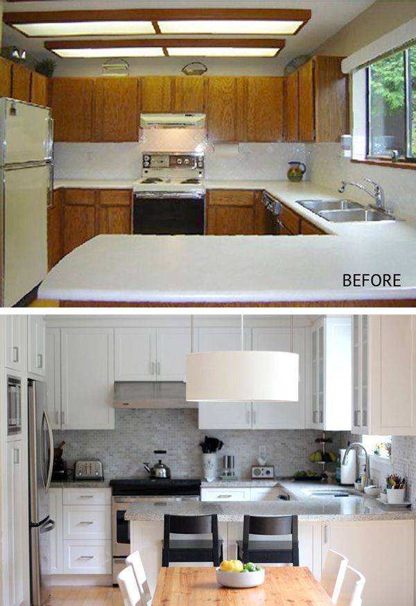 Kitchen Ideas Before And After.Before After Example For The Kitchen Renovation Design Kitchen