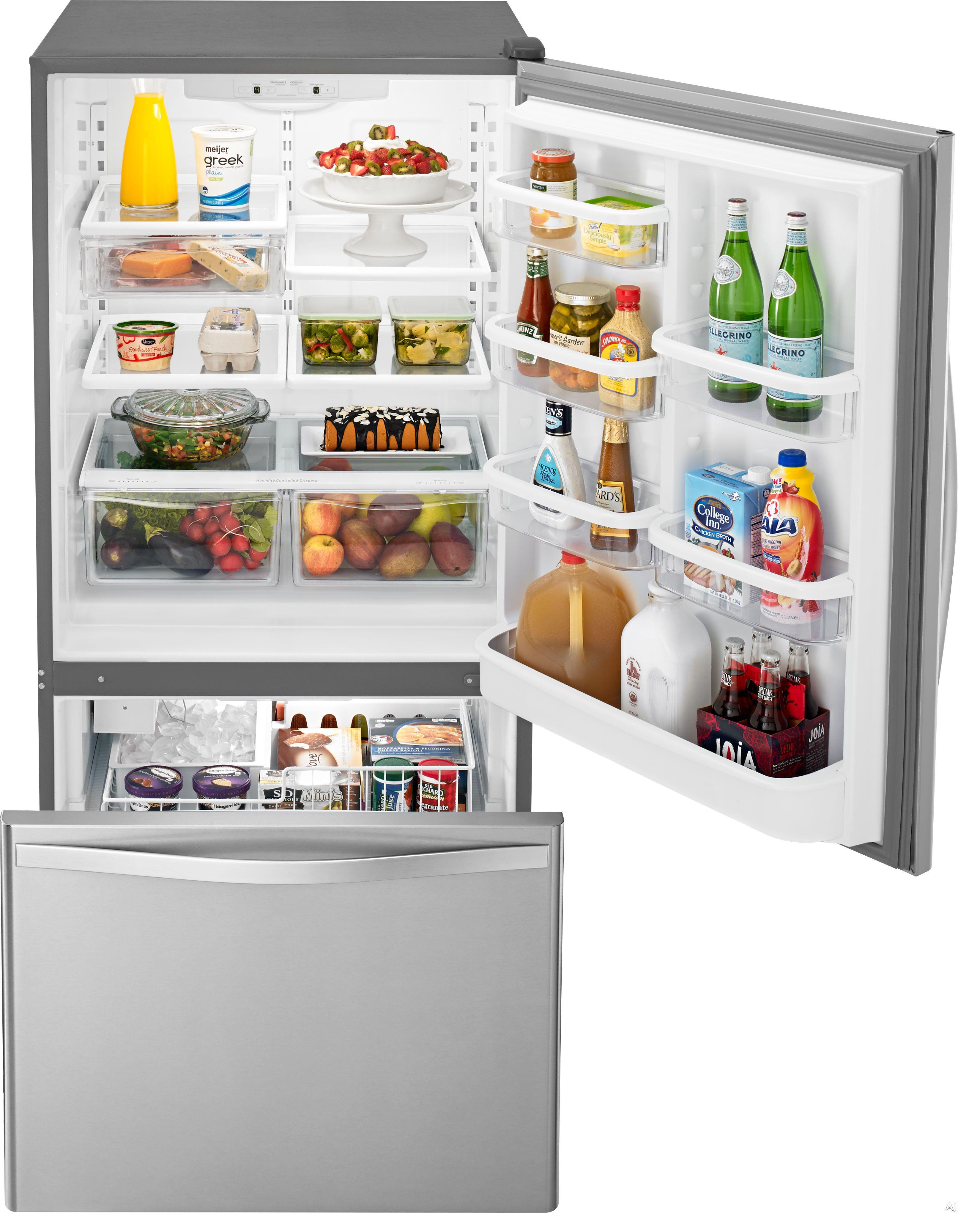 Whirlpool WRB322DMBM 21 9 cu ft Bottom Freezer Refrigerator with