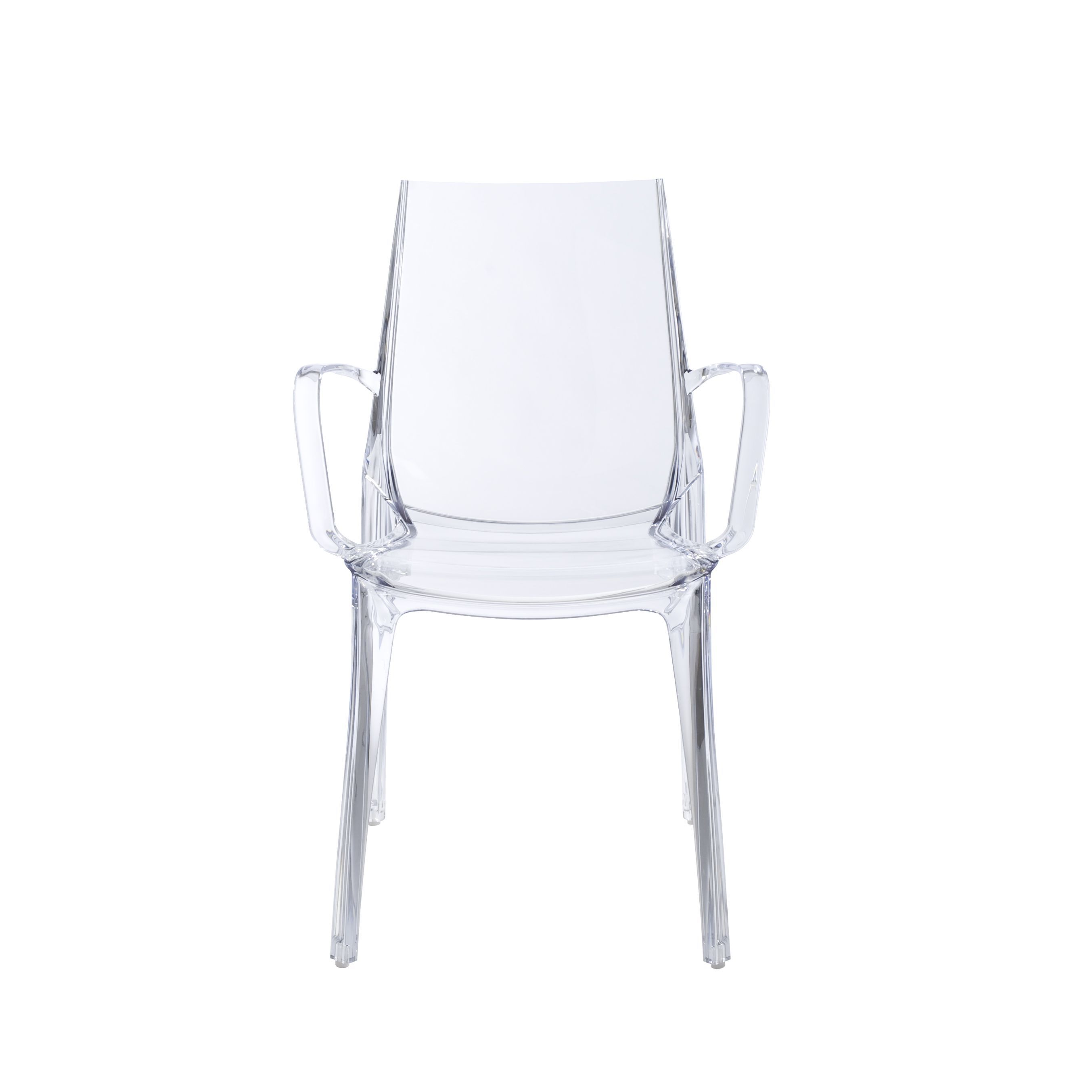 Clear Vanity Chair Euro Style Vanity Clear Polycarbonate Stacking Arm Chair Set Of 2