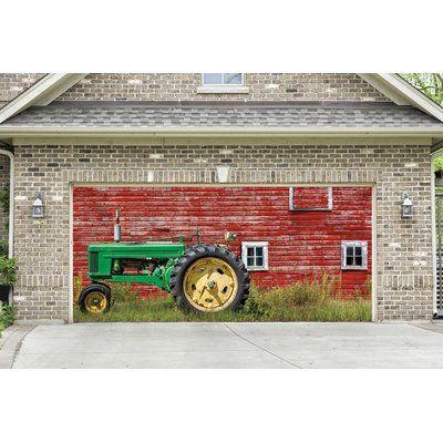 August Grove Tractor Garage Door Mural Size 84 H X 192 W X 1 D In 2020 Door Murals Garage Doors Garage Door Decor