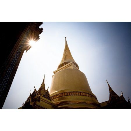 Low Angle View Of The Grand Palace In Bangkok BangkokThailand Canvas Art - David DuChemin Design Pics (19 x 12)