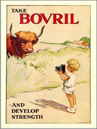 VP121220-02 - Bovril Advert, Child with camera, 1920s (30x40cm Art Print)