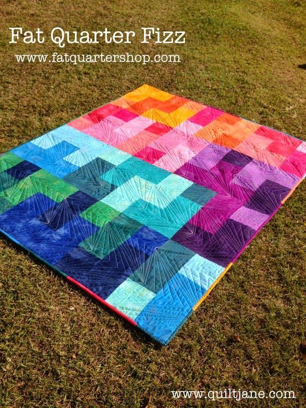 Fat Quarter Fizz Free Quilt Pattern From Fat Quarter Shop