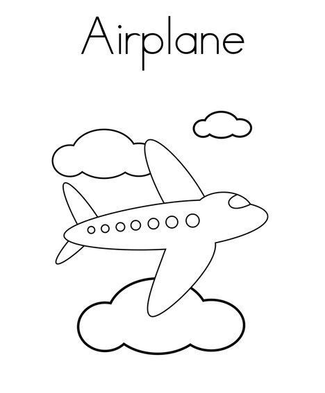 airplane coloring pages for toddlers - photo#22