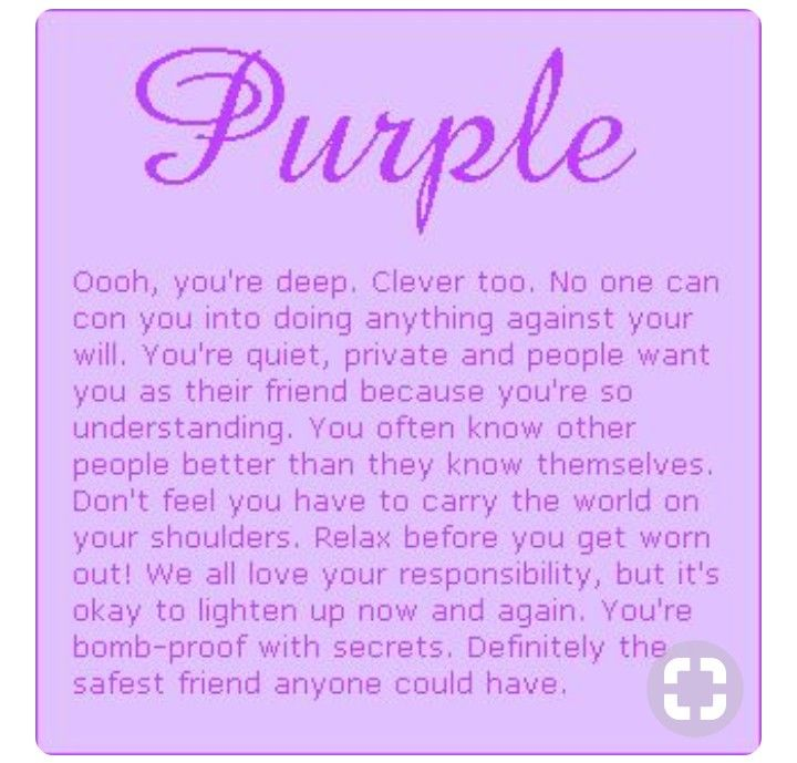 my favorite color is purple what does that mean