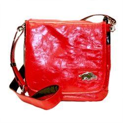 """University of Arkansas PVC Messenger Bag 48"""" Adjustable Strap Yima Metallic logo. $69.99"""
