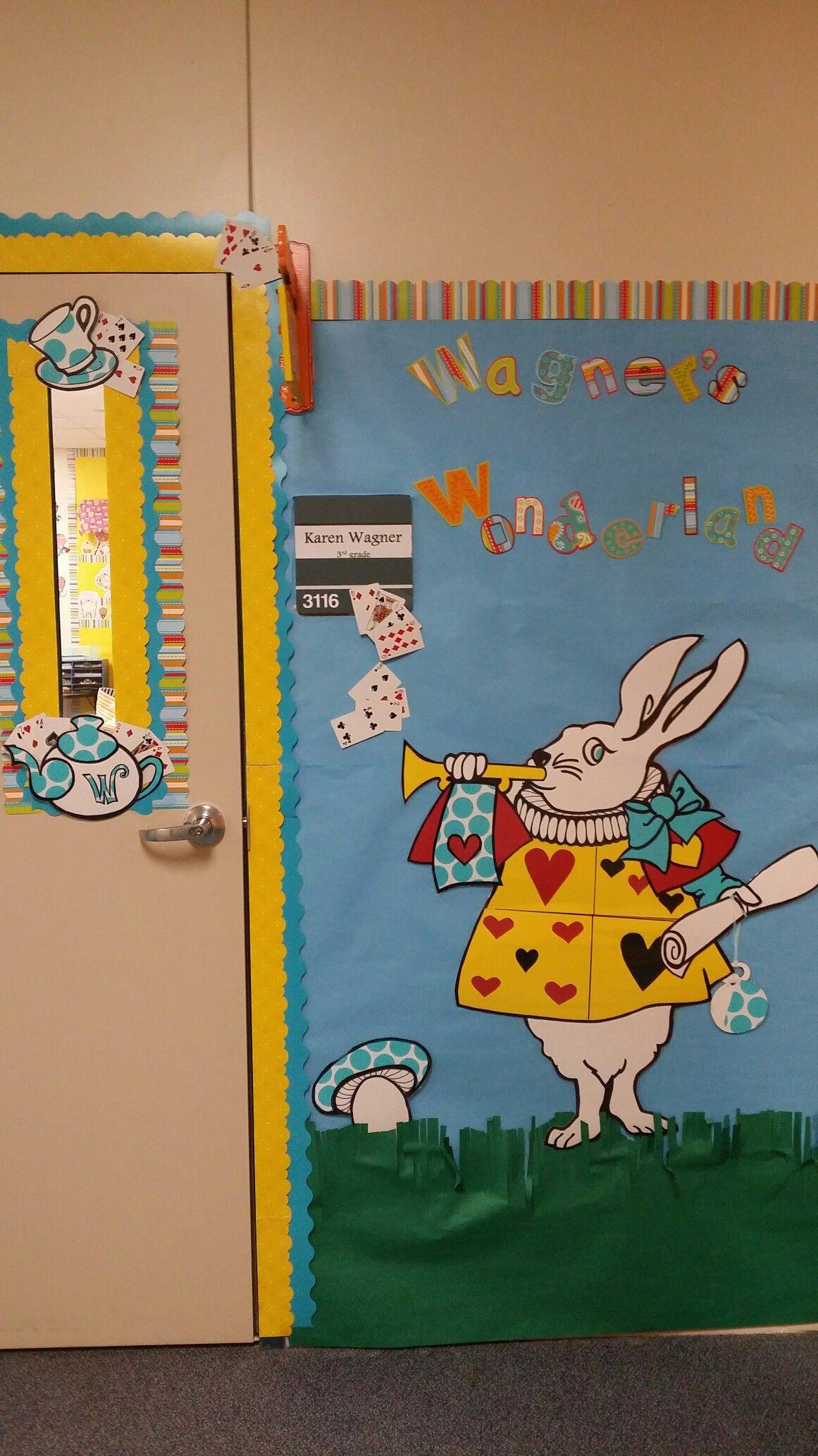 Alice in Wonderland classroom door display! | Alice ...