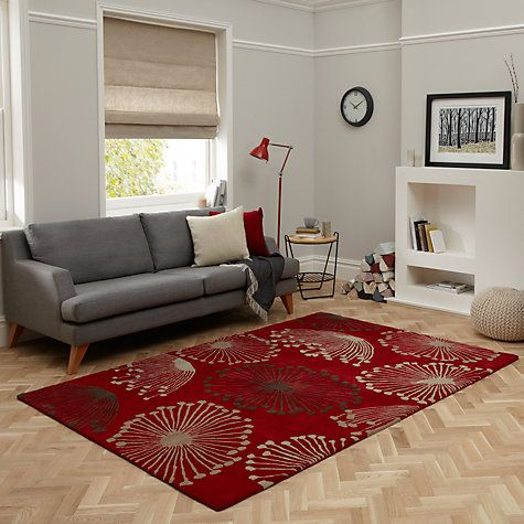 Sanderson Dandelion Red Rug 45810 Available At Www Fallon4interiors