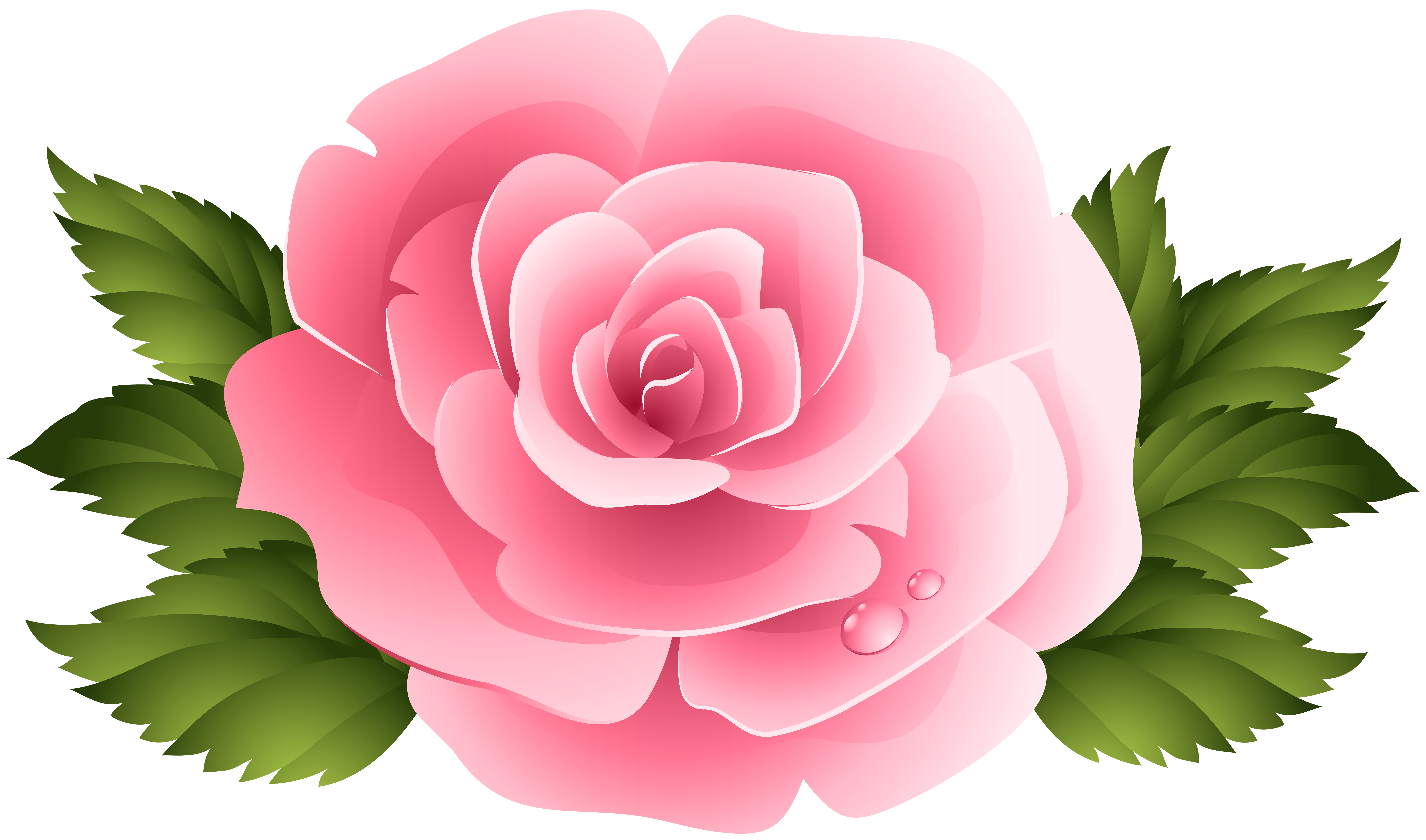 Pink Rose Clipart Png Image Rosas Flores Flores Hechas A Mano
