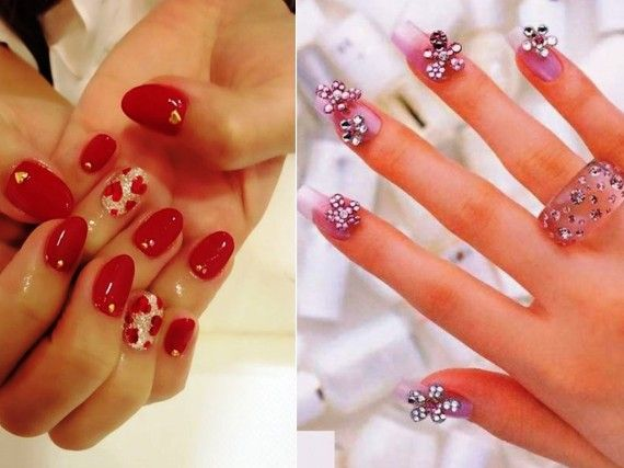 Red manicure: 50 ideas