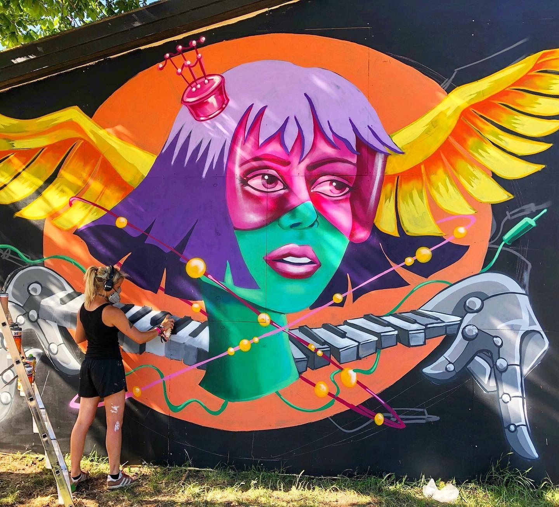 Stine Hvid at Roskilde Festival in Denmark, 2019 Street
