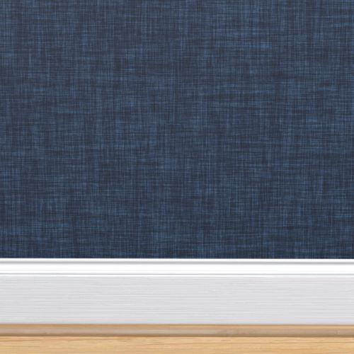Colorful Fabrics Digitally Printed By Spoonflower Navy Linen No 2 Bedroom Wallpaper Accent Wall Navy Bedroom Wallpaper Navy Accent Walls