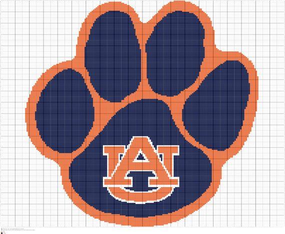 Auburn university crochet afghan pattern written and graph pattern crochet auburn university graph pattern pdf by fadesigncharts fandeluxe Image collections