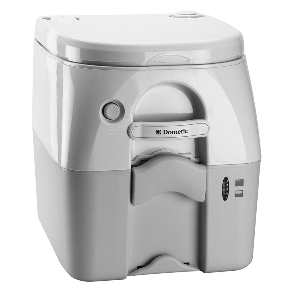 DOMETIC 975MSD PORTABLE TOILET 5.0 GAL GRAY W/ BRACKETS