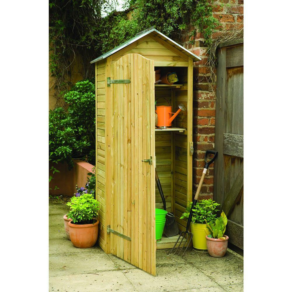 Forest garden tall garden store garden tool storage