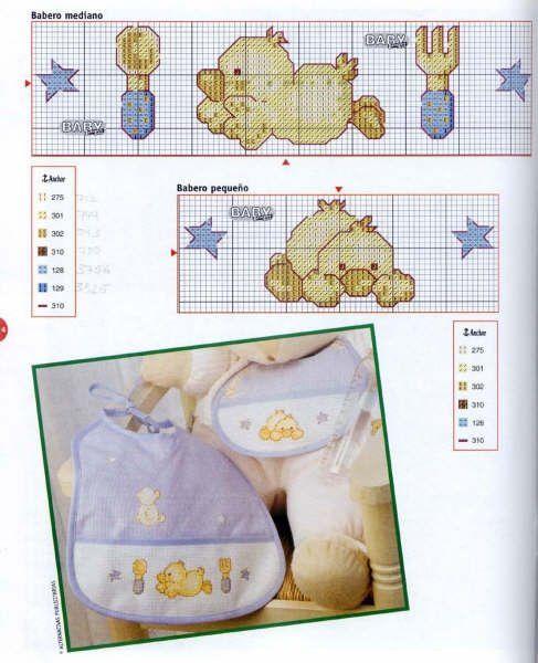 tiernos pollitos | Punto de cruz bebés | Pinterest