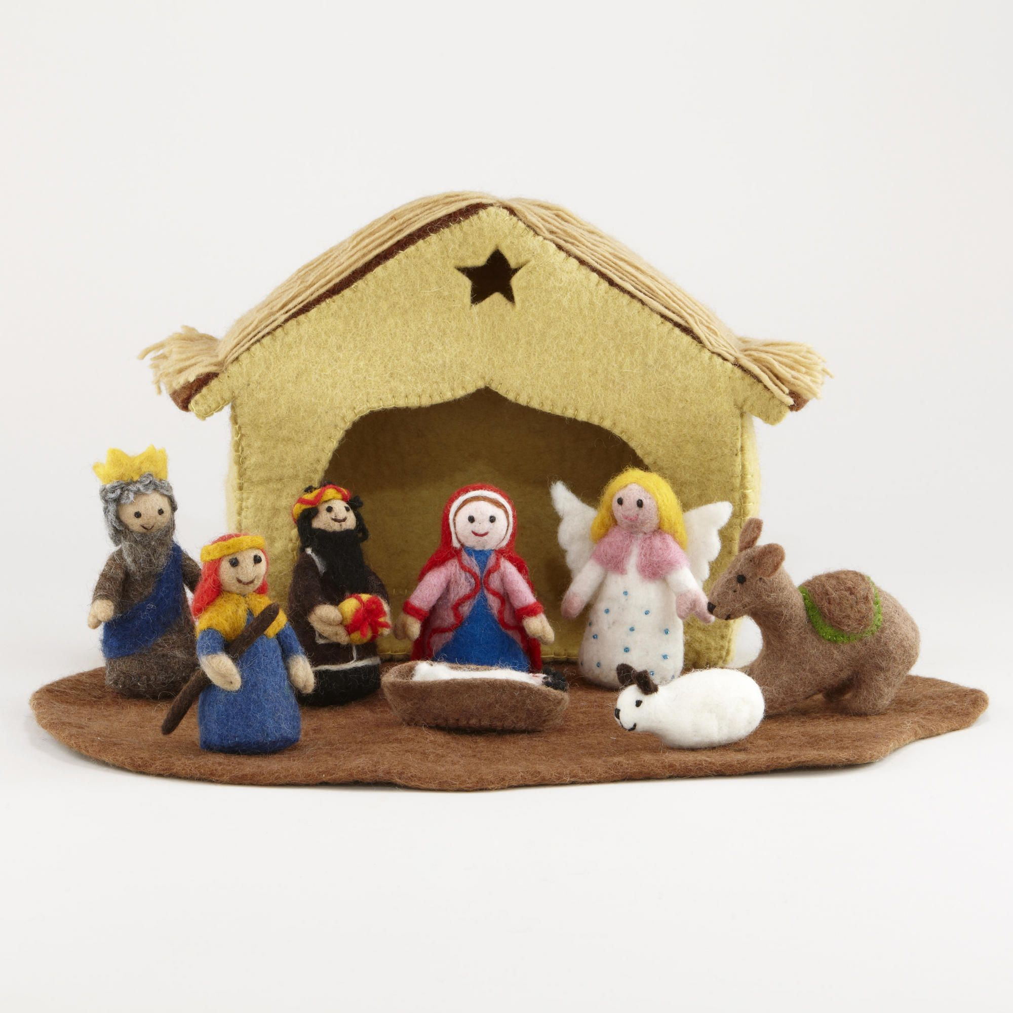 Felt Nativity Set- I like the manger