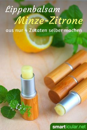 Photo of Refreshing mint-lemon lip balm for hot and cool days