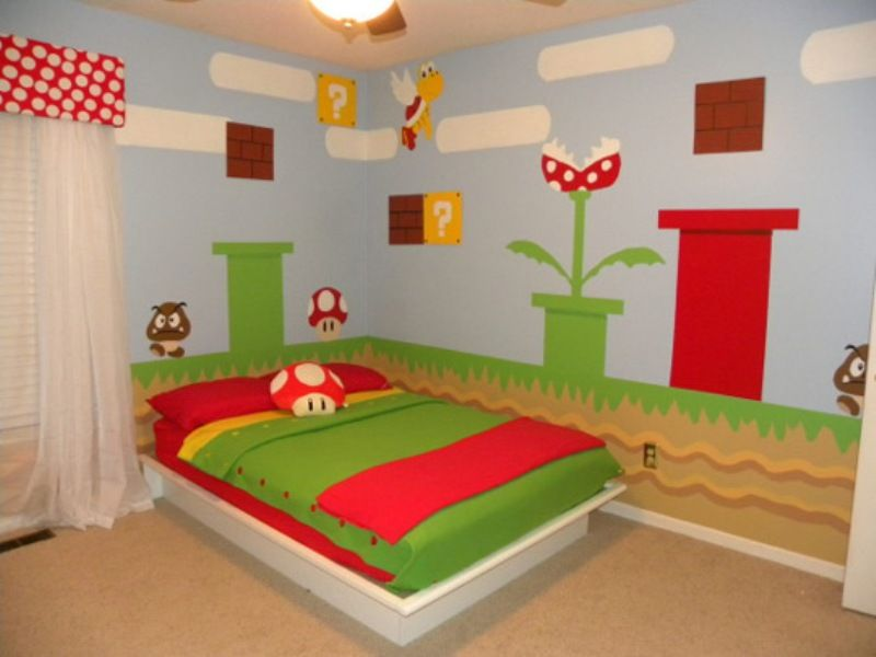 Cool Super Mario Kids Room Design