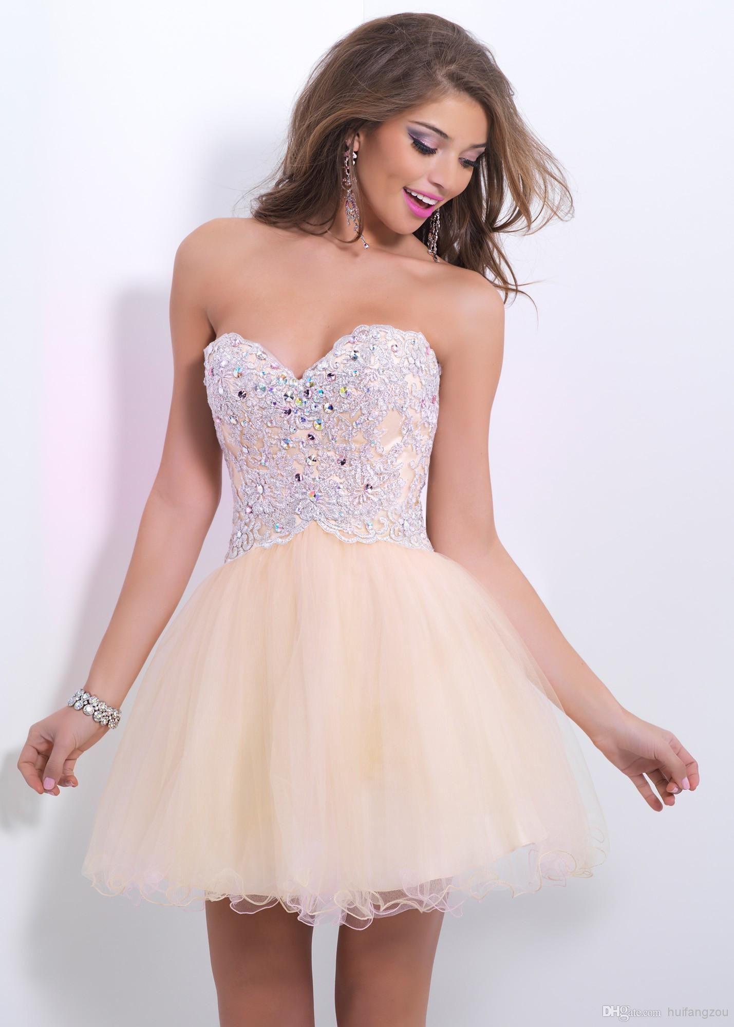 Discount short mini sweetheart beads crystal rhinestone lace