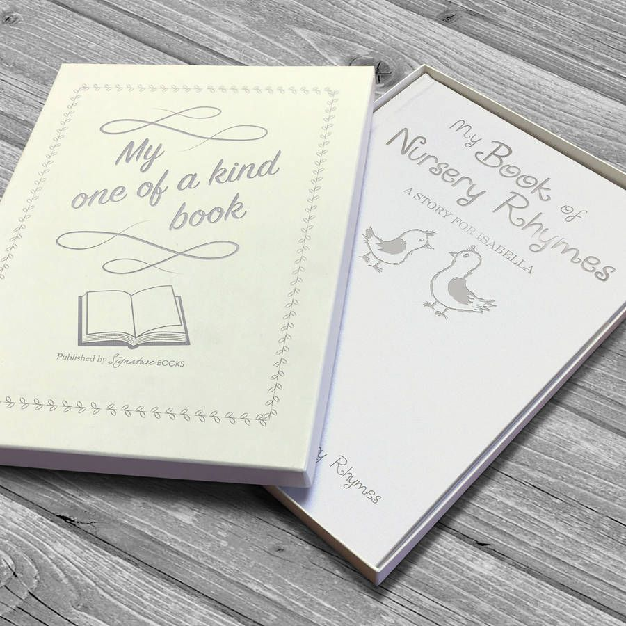 Silver Embossed Personalised Book Of Nursery Rhymes