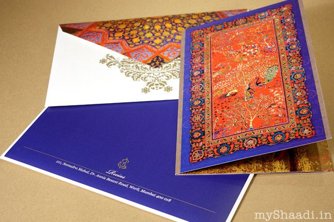Unique wedding card ideas myshaadiinindiawedding cards for Wedding invitation printing in mumbai