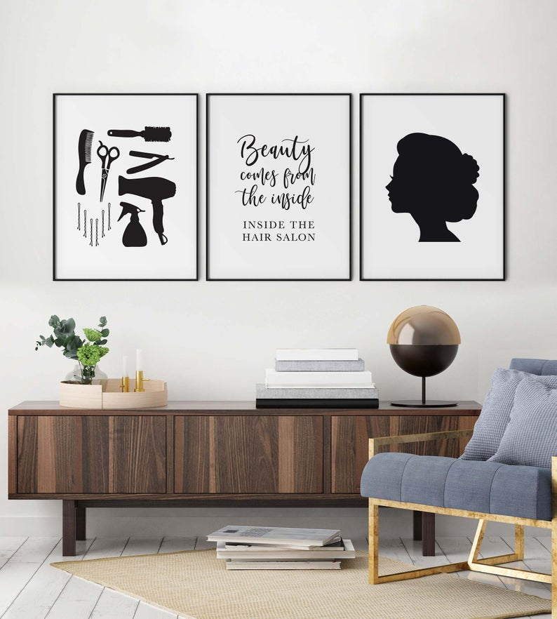 Fashion Prints Set of 3 Poster Wall Art A4 Boutique Women Gift Girly Salon 105