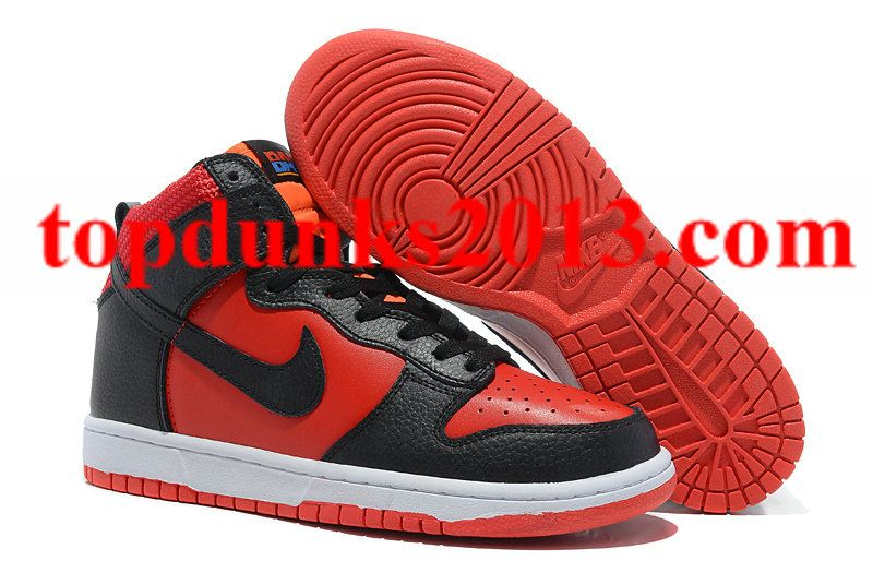 a6888a7b79a6 Good Red Black New Nike Dunk Men High for Christmas