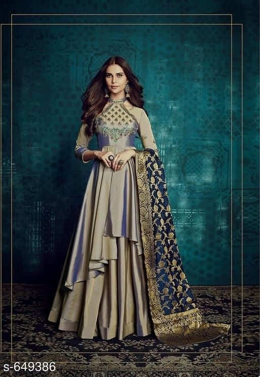 41da2fbef8d3 Superb Designer Taffeta Silk Women Gowns Salwar Kameez Partywear Lehengas  #fashion #clothing #shoes #accessories #worldtraditionalclothing  #indiapakistan ...