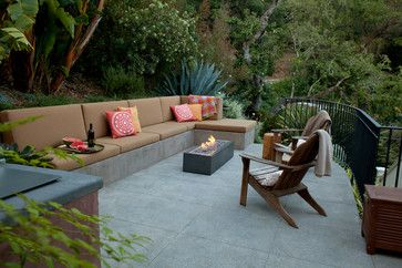Concrete Patio Seatwall Design Ideas, Pictures, Remodel and Decor