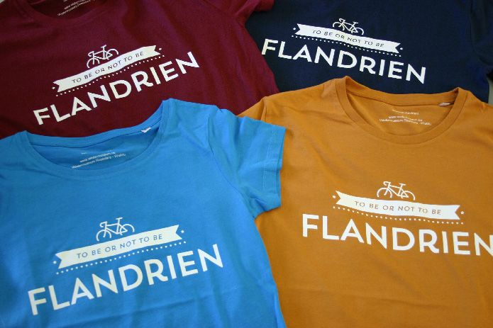 The final t-shirt in different colors