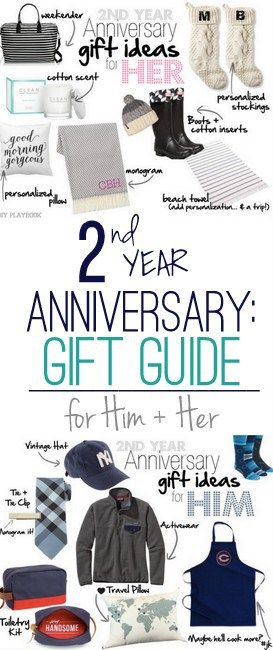 2nd Wedding Anniversary Gift Ideas for Him and Her | Wedding ...
