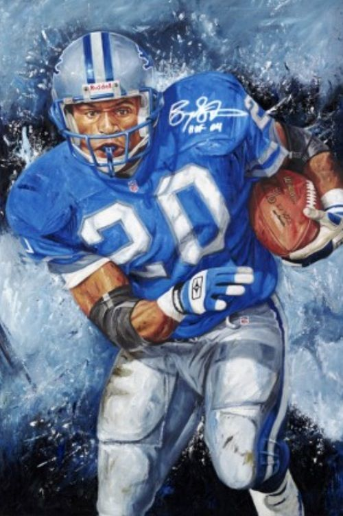 Hall Of Famer Barry SandersDetroit Lions